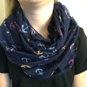Anchor infinity scarf